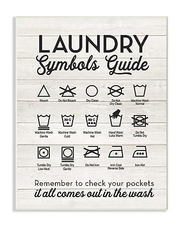Amazon Stupell Home Dcor Laundry Symbols Guide Typography Wall