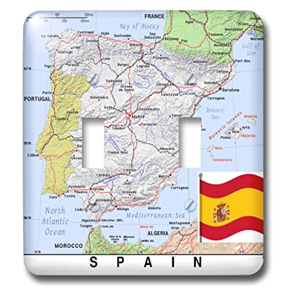 Topographical Map Of Spain.3drose Lens Art By Florene Topo Maps With Flags Image Of