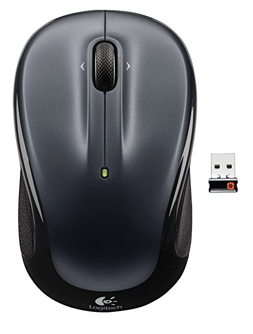 Logitech Wireless Mouse M325 with Designed for Web Scrolling   Dark Silver  910 002136  Mice