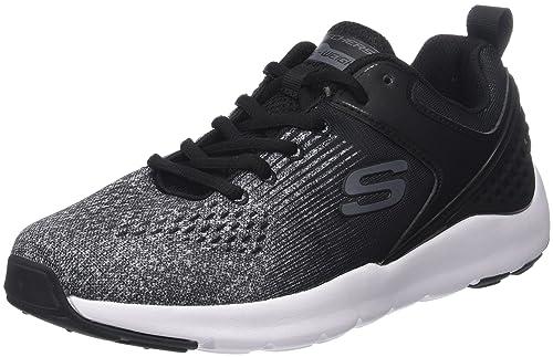Skechers Nichlas, Sneaker Uomo, Nero (Black/Red), 43 EU