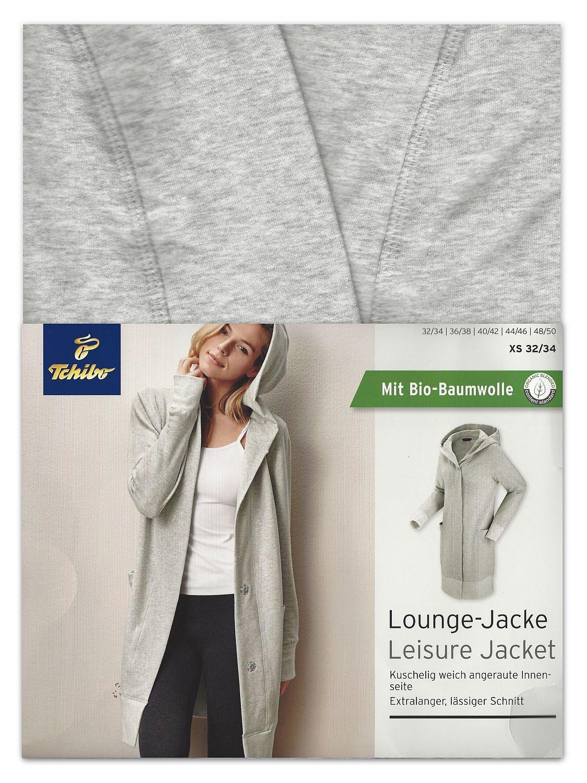 8fd2d577b1e50f Tchibo TCM Lounge Jacke Sweatjacke Extralang extragroße Kapuze Biobaumwolle  (36/38 S): Amazon.de: Sport & Freizeit