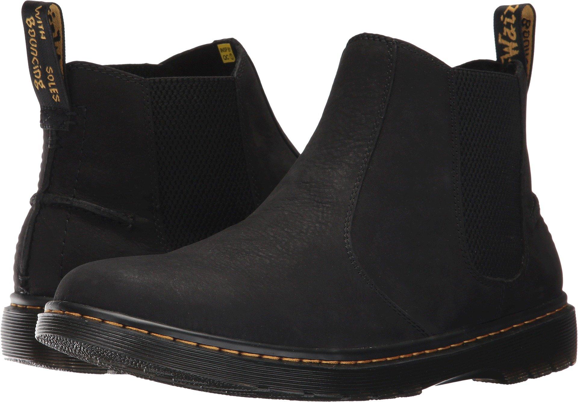 Dr. Martens Men's Lyme Chelsea Boot, Black Slippery WP, 12 Medium UK (13 US)