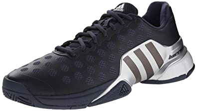 8ab28a41ad9 adidas Performance Men s Barricade 2015 Tennis Shoe Midnight Grey Metallic  Grey Silver 6.5 D(M) US  Buy Online at Low Prices in India - Amazon.in