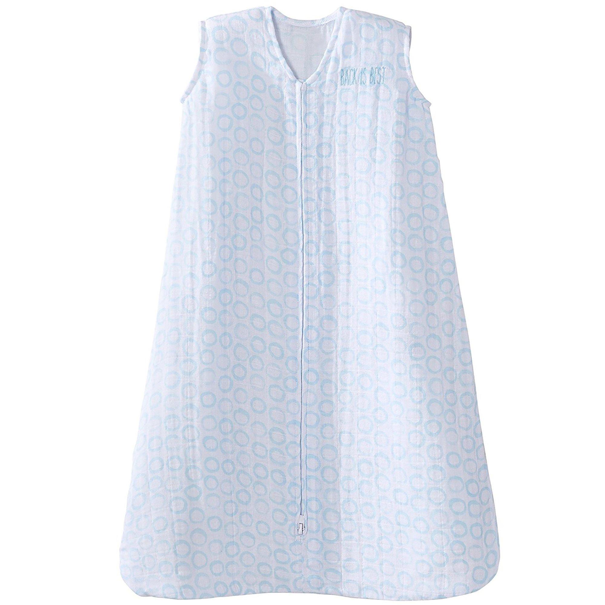 Halo 100% Cotton Muslin SleepSack Wearable Blanket, Circles Turquoise, X-Large