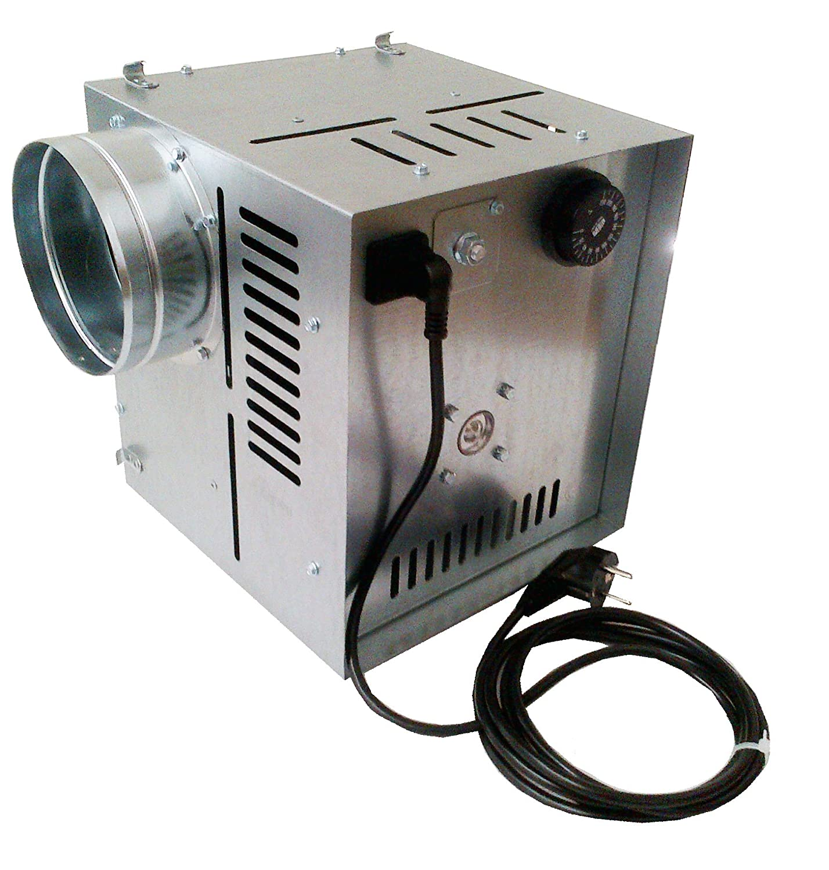 Darco - Ventilador de aire caliente WK AN1, flujo de aire de 400 m3/h, diámetro 125 mm para la distribución de aire caliente, galvanizado: Amazon.es: ...