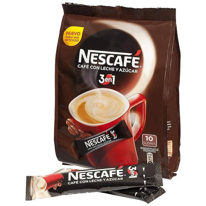 Nescafé 3En1 - Café Soluble Con Leche Y Azúcar - 180 g