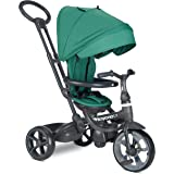 Joovy Tricycoo LX Kid's Tricycle, Push Handle, Adjustable Seat, 8 Stages, Pine
