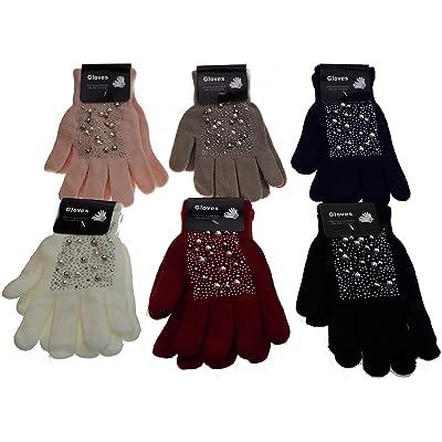 1 paire de gant perles et strass, femme ou adolescente. tout doux, tout chaud. 95% acrylique- 5% spandex TAILLE UNIQUE. 6 coloris aux choix à préciser par mail après la commande sinon aléatoire.
