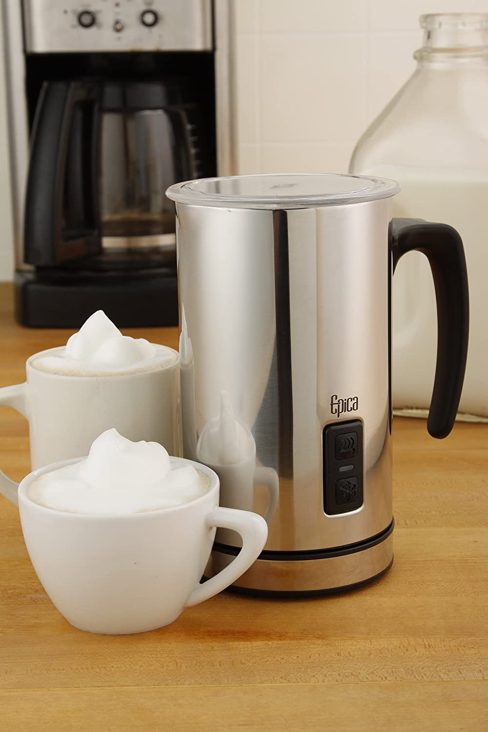 amazon com epica automatic electric milk frother and heater
