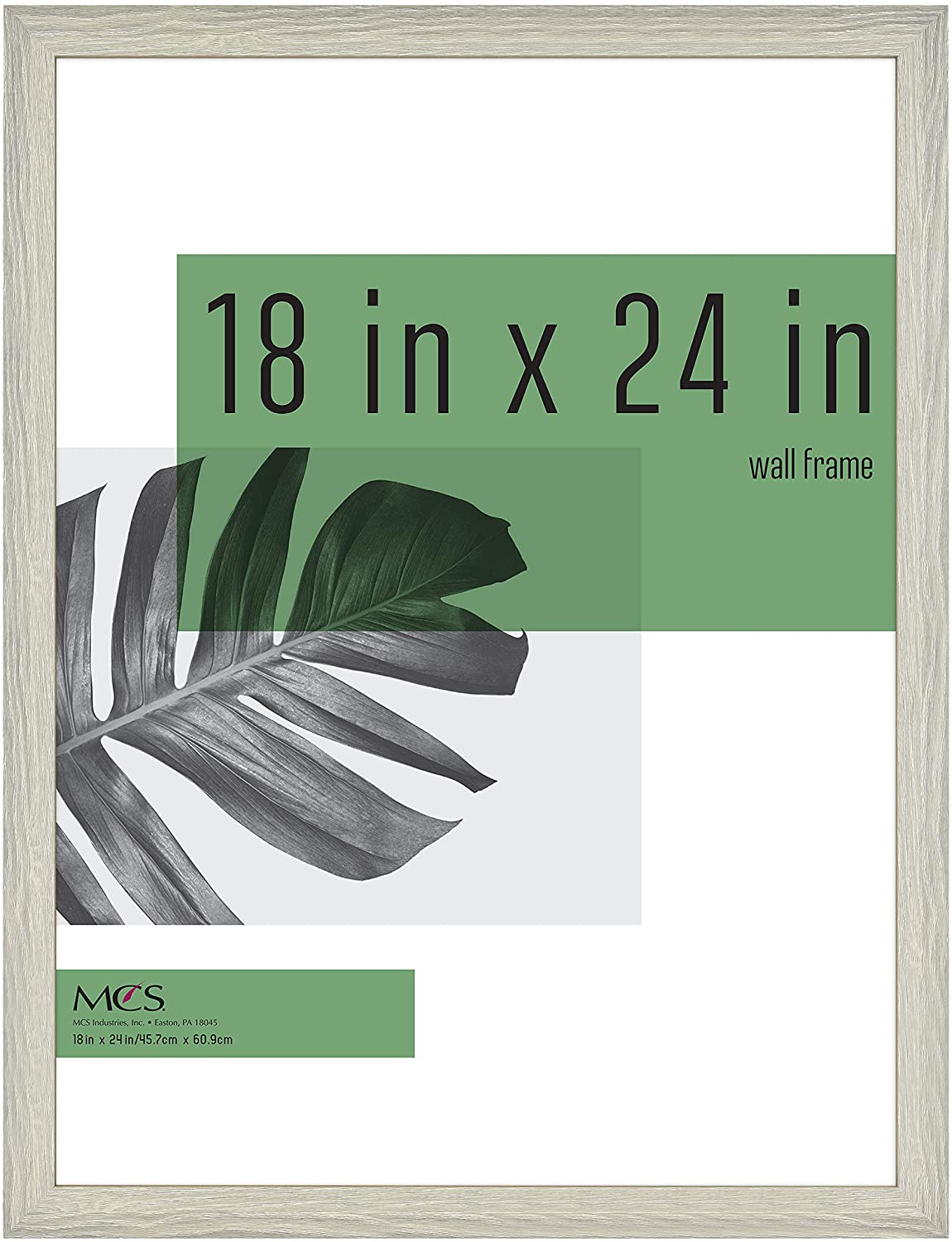 MCS Industries Inc 63738 18x24 Inch Studio Gallery, Gray Woodgrain Frames, 18x24