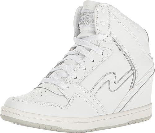 skechers high top wedge sneakers