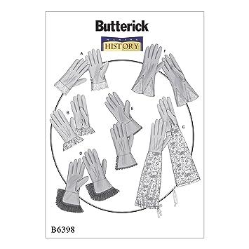 Butterick Patterns Butterick Schnittmuster 6398 OS Handschuhe ...