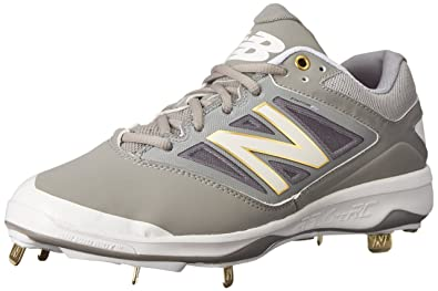 New Balance Men's L4040V3 Cleat Baseball Shoe, Black/Black, 7 2E US