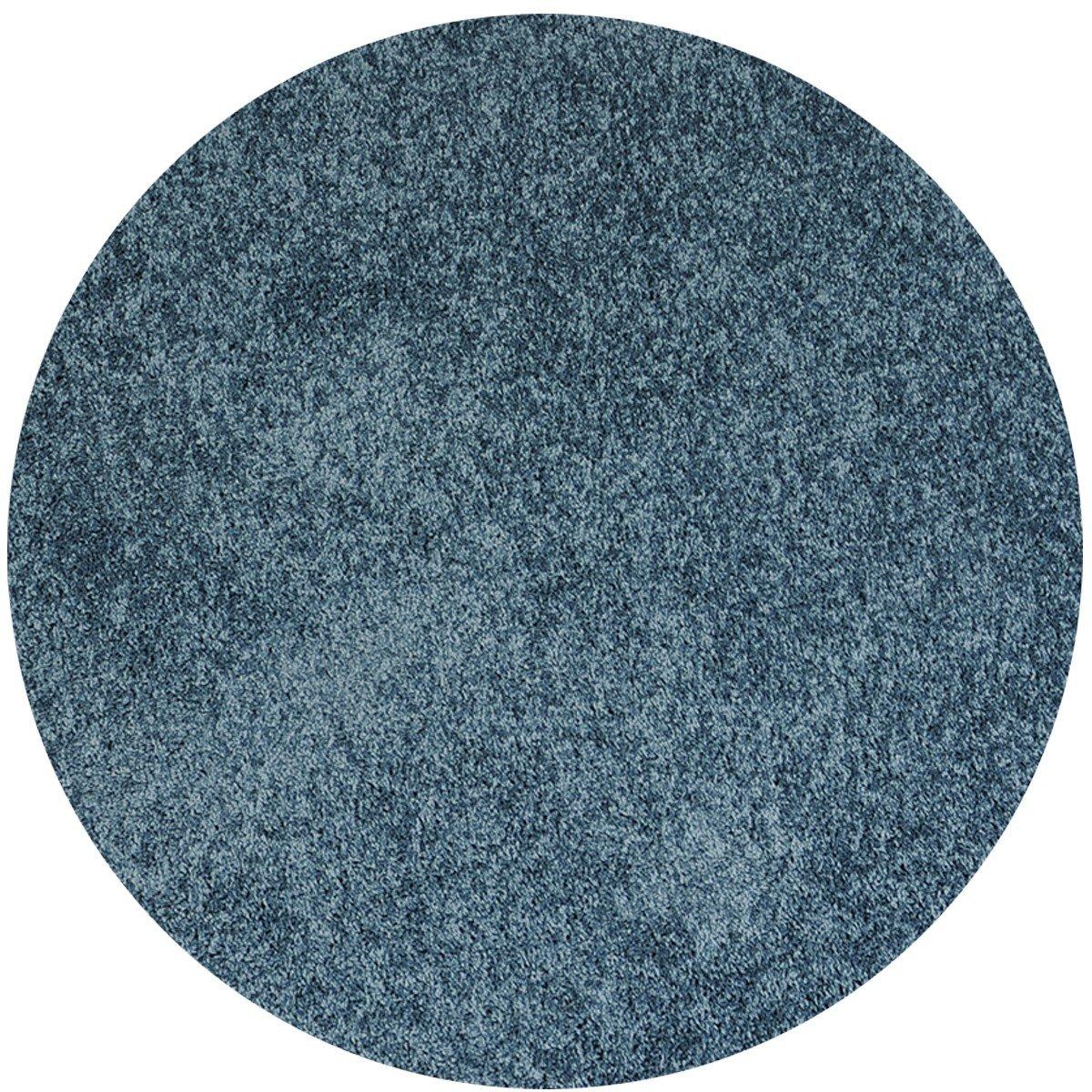 Havatex Shaggy Teppich Euphoria rund - Farbe wählbar   Prüfsiegel  TÜV-geprüft   robust strapazierfähig und pflegeleicht   Schlafzimmer Wohnzimmer Kinderzimmer, Farbe Türkis, Größe 300 cm rund