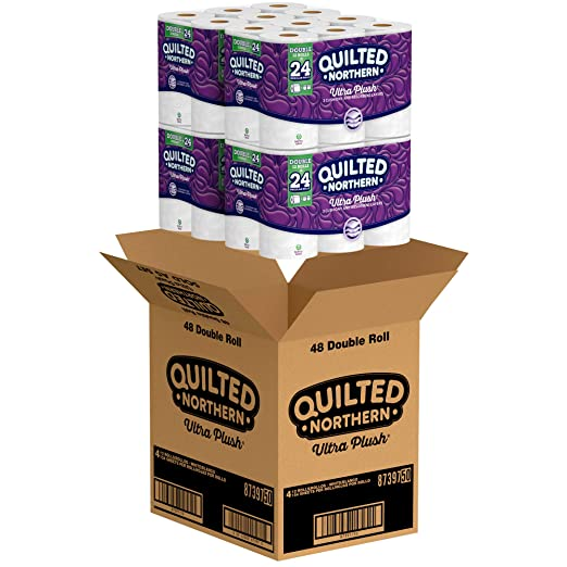Com Quilted Northern Ultra Plush Toilet Paper Pack Of 48 Double Rolls Four 12 Roll Packages Equivalent To 96 Regular Packaging May Vary