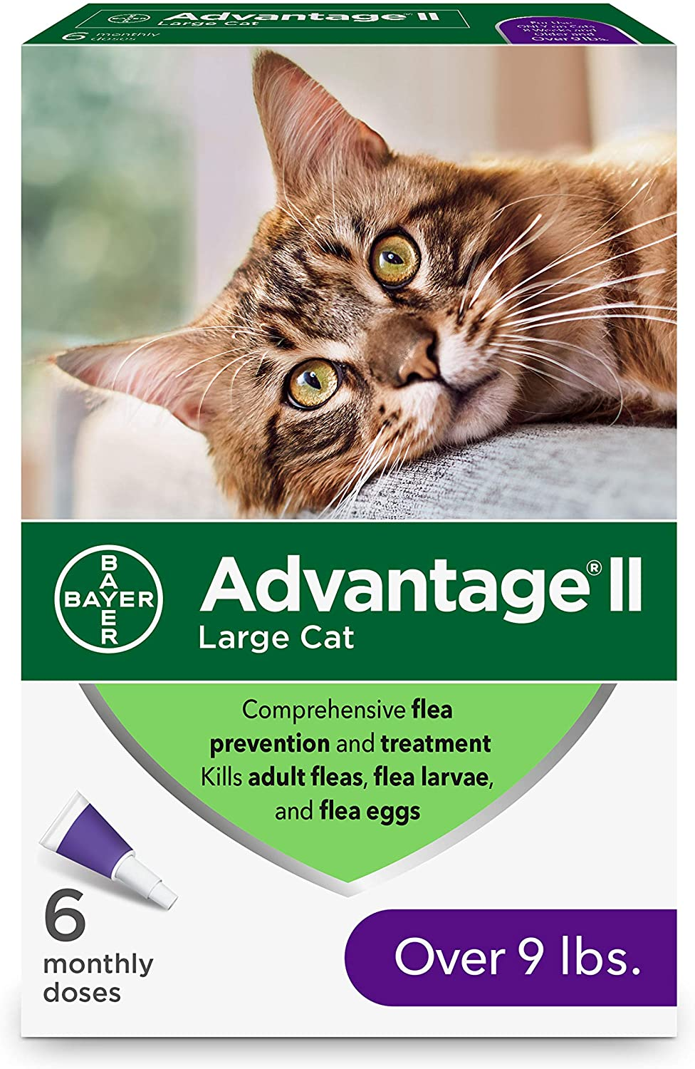 2. Bayer Advantage II Flea Control Treatment