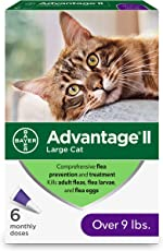 Advantage II Flea Prevention and Treatment for Large Cats, Over 9