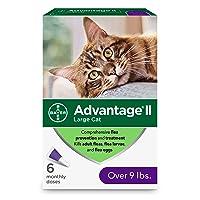 Advantage II 6-Dose Large Cat Flea Prevention, Flea Prevention for Cats, Over 9...