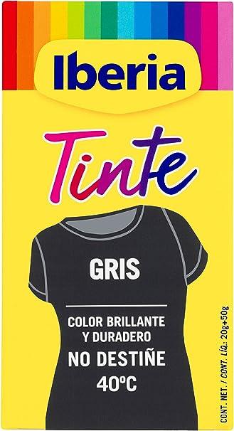 Iberia - Tinte Gris para ropa, 40°C, 70 gr (214113)