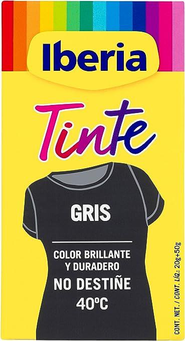 Iberia - Tinte Gris para ropa, 40°C, 70 gr (214113): Amazon.es: Belleza