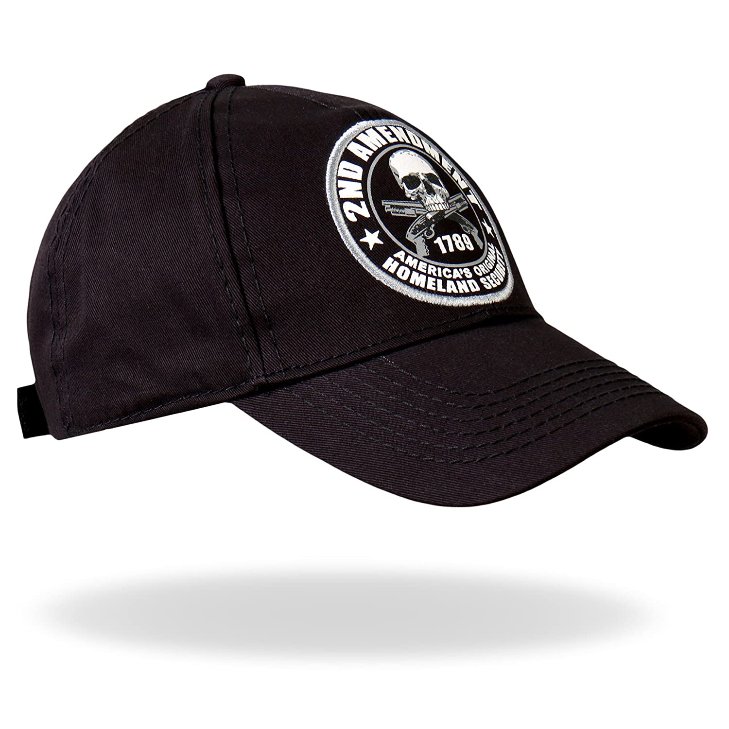 321944d4a3bad Amazon.com  Hot Leathers 2nd Amendment Baseball Hat (Black)  Automotive