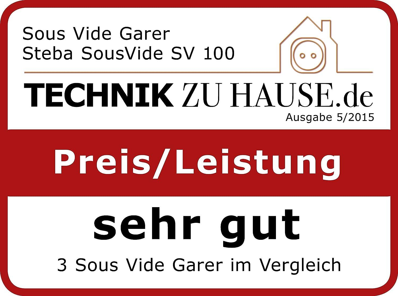 Hervidor de agua Steba SV 100 PROFESSIONAL Vertical Negro Vertical, Negro, Acero inoxidable, 1500 W, LCD, 230 V, 145 mm Acero inoxidable