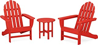product image for POLYWOOD PWS417-1-SR Classic 3-Piece Adirondack Seating Set, Sunset Red