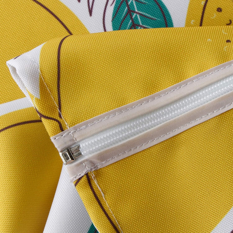 con foro per ombrello e cerniera Poliestere Boemia 60 round Tovaglia impermeabile per esterni Do4U