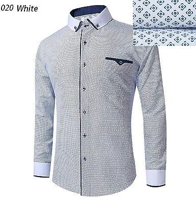 NAA - Camisa blanca de manga larga para hombre - - S: Amazon.es: Ropa y accesorios