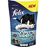 Felix Play Tubes Tuna & Crab Cat Treats, Adult, 50g