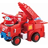 """Super Wings - Jett's Robo Rig, Transforming Toy Vehicle Set, Includes Transform-A-Bot Jett Figure, 2"""" Scale"""