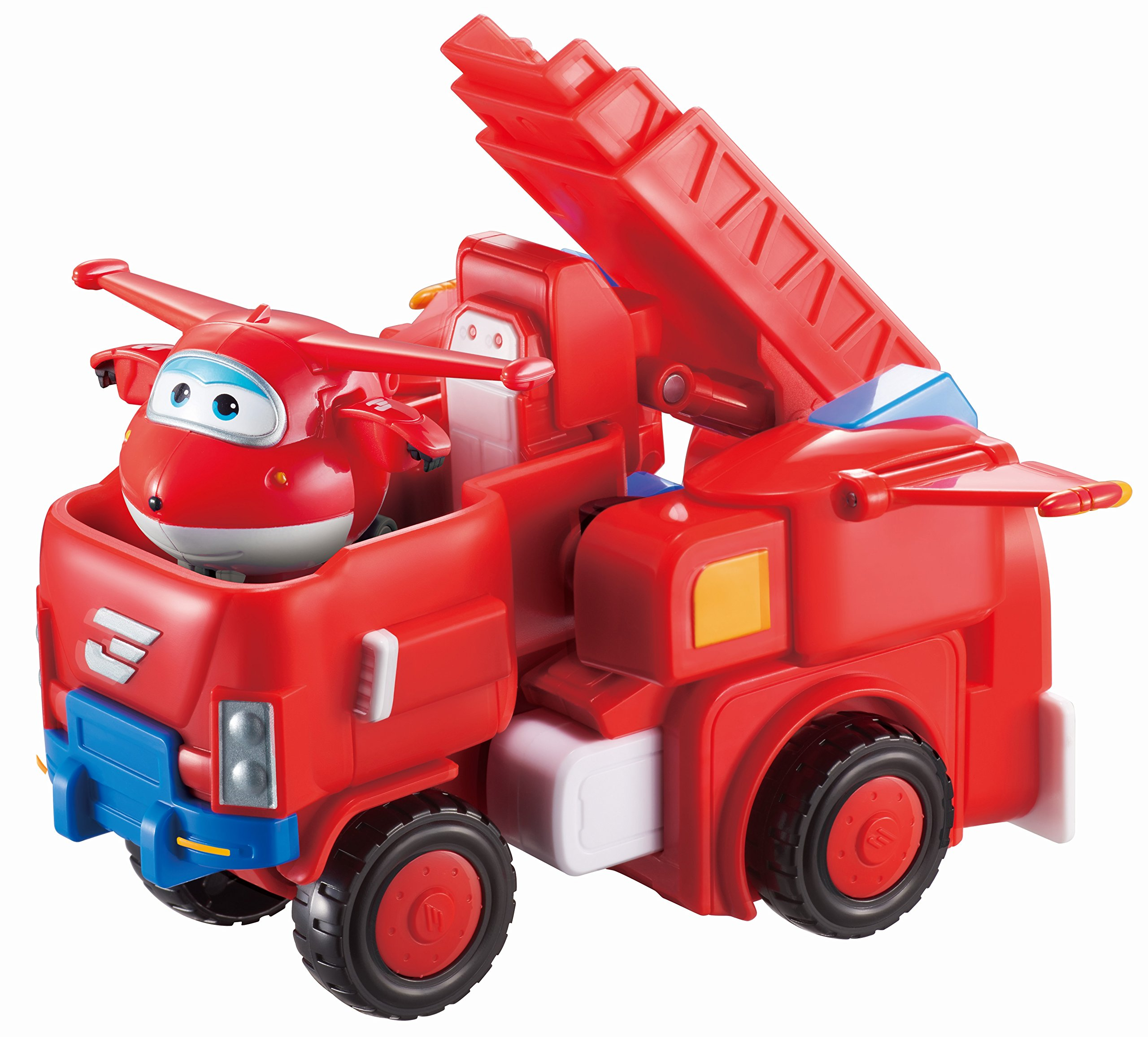 Super Wings - Jett's Robo Rig, Transforming Toy Vehicle Set, Includes Transform-A-Bot Jett Figure, 2'' Scale by Super Wings -