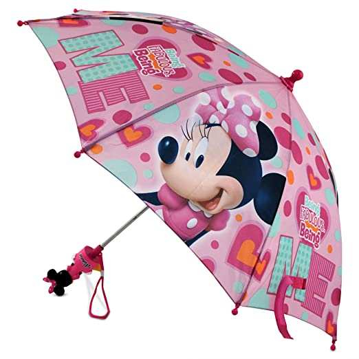 Amazon.com: Disney Little Girls Minnie Mouse Character Rainwear Umbrella, Pink, Age 3-7: Clothing