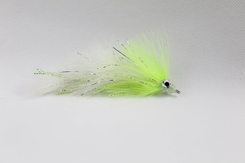 Bunny Bird  White//Chartreuse 2//0 Saltwater Flies