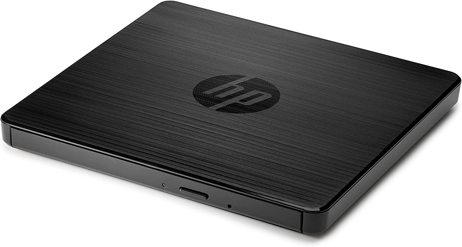 HP External Portable Slim Design CD/DVD RW Write/Read Drive, USB, Black (F2B56AA)