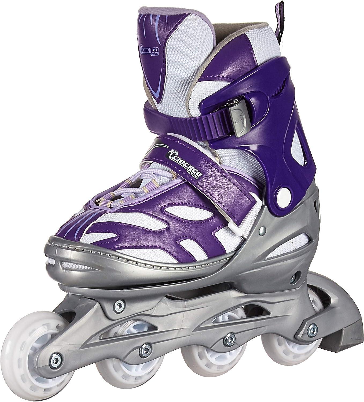 Chicago Skates Girls ' Adjustable Inline Skates  Adjustable Size 5-8