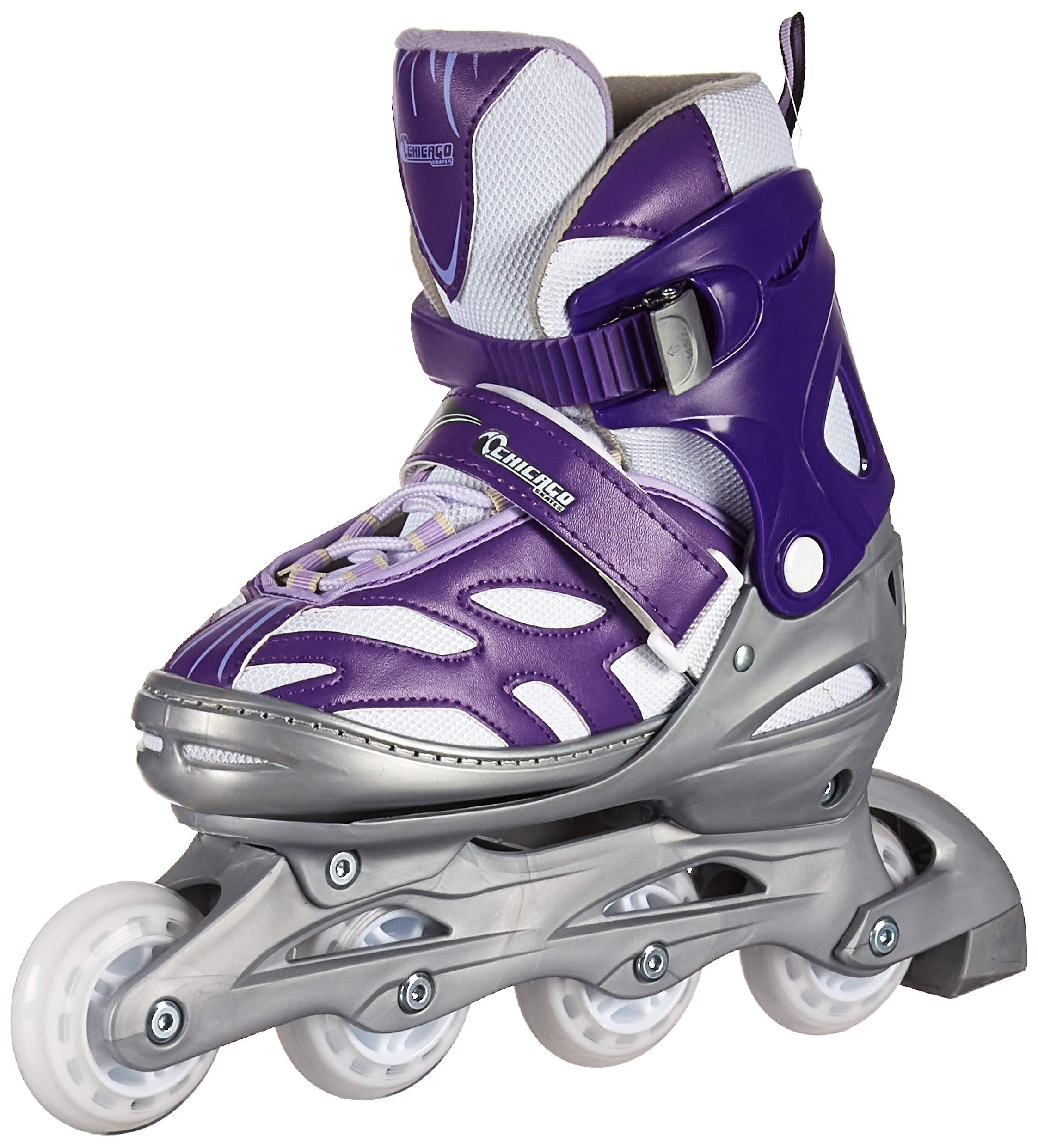 Chicago Blazer Girls Adjustable Inline Skates - Purple - Sizes 1-4