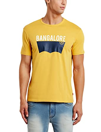 7797cb80e9 Levis Men s T-Shirt (6901960604083 16961-0249 Small Yellow)  Amazon ...