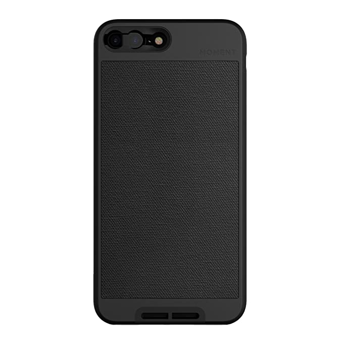 huge discount c5bc6 1a3cb iPhone 7 Plus/iPhone 8 Plus Case || Moment Photo Case in Black Canvas -  Thin, Protective, Wrist Strap Friendly case for Camera Lovers.