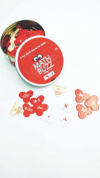 CocoMoco Kids Math Buzz Educational Game (Red, 5-7 Year)