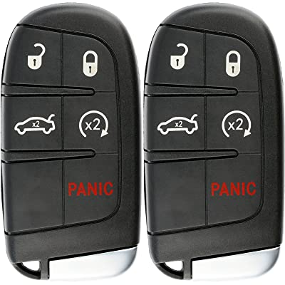 KeylessOption Keyless Entry Remote Car Smart Key Fob Starter for Dodge Dart Charger Challenger M3N-40821302 (Pack of 2): Automotive