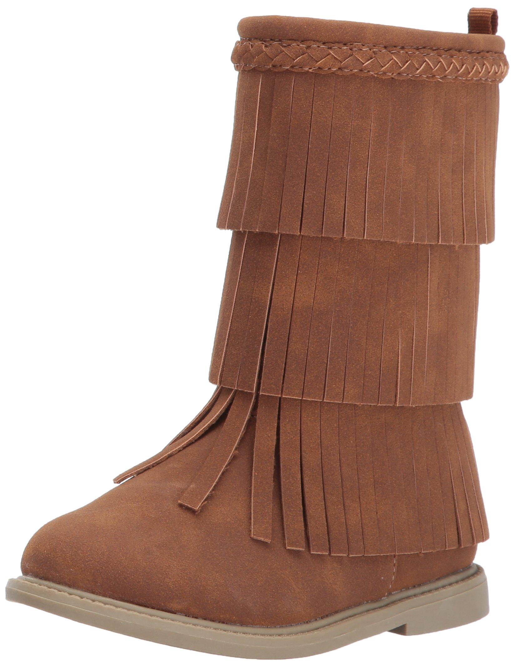 Carter's Girls' Toka Fashion Boot, Brown, 10 M US Toddler
