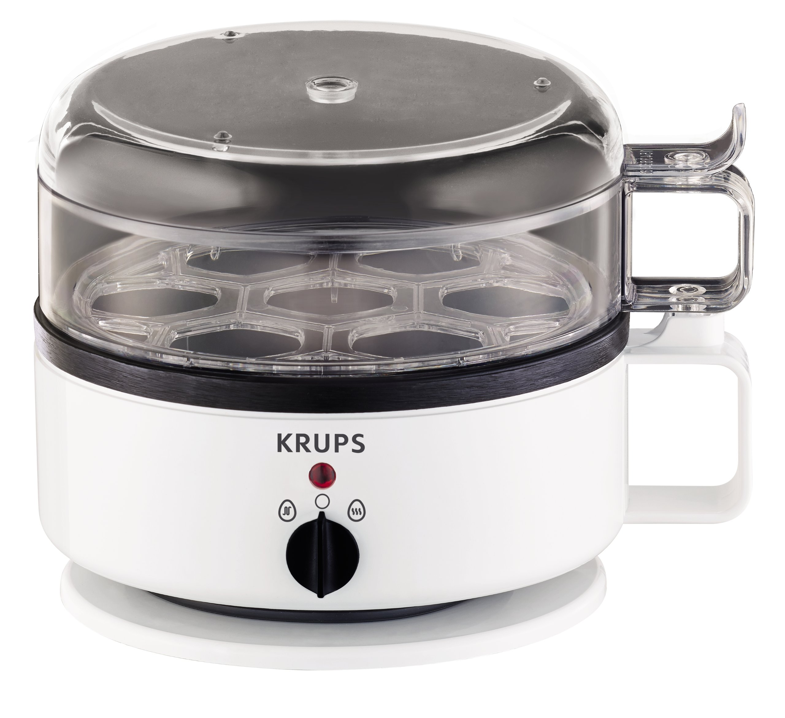 KRUPS F23070 Egg Cooker with Water Level Indicator, 7-Eggs capacity, White by KRUPS