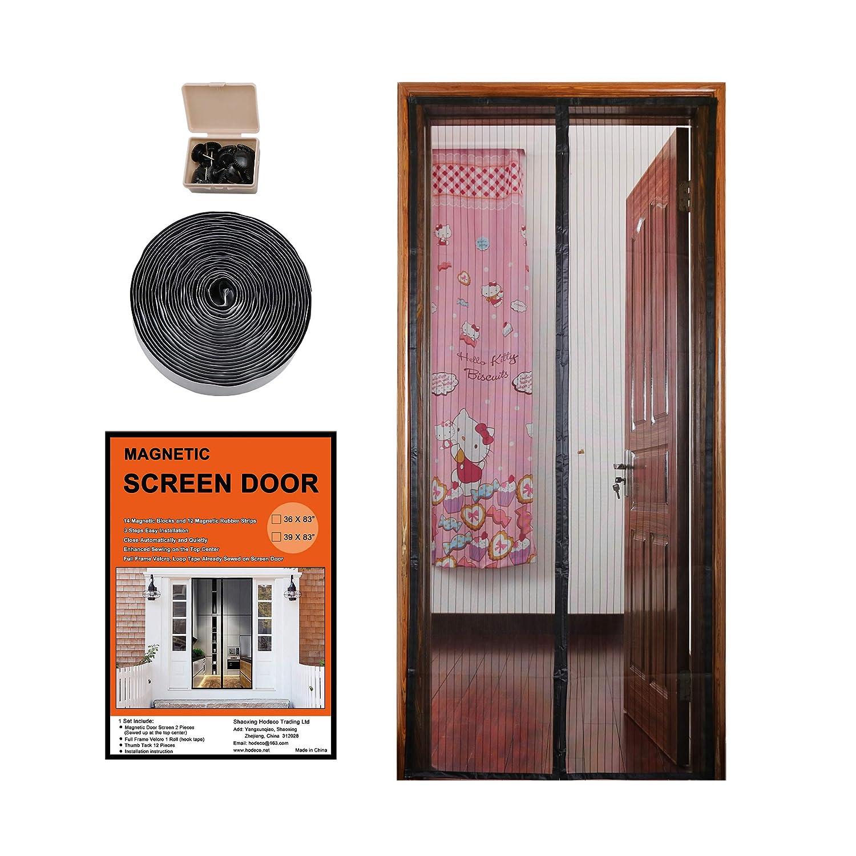 Hodeco Magnetic Screen Door Full Frame Velcro 26 Magnets Fit Door Up