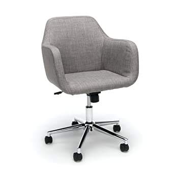 Essentials Upholstered Home Office Chair - Ergonomic Desk Chair with Arms  for Conference Room or Office, Gray