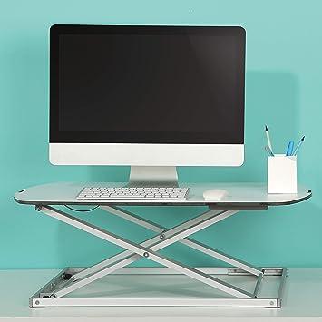 RICOO Soporte Extensible para Monitor PC Ordenador TS1111 para Mesa de sobremesa de monitores 4K OLED TV Pantalla Plana táctil para portátil Laptop Soporte de Touch Screen de Aluminio en Color Plata:
