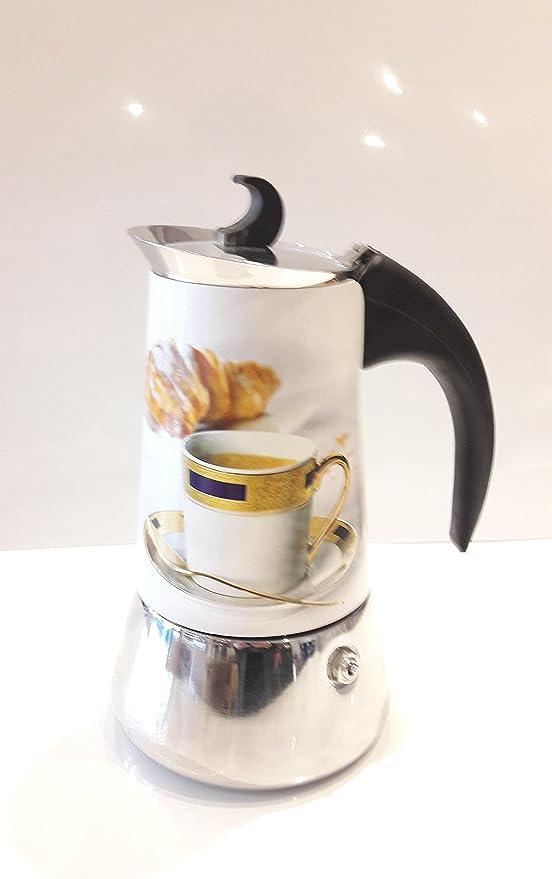 Cafetera Moka, Cafetera italiana de inducción, Cafetera moka de Migros, Cafetera con fondo inducción, Cafetera con fondo para inducción, Cafetera de acero con mango con fondo de inducción.: Amazon.es: Hogar