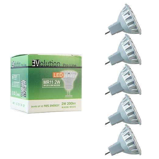 32 opinioni per 5x Evolution® Pro Line   MR11 2W LED 200 lumen   Lampada AC/DC 12V 30° bianco