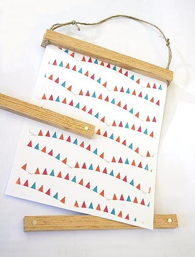 Amazon.com: Poster Hanger | Wood Poster Hanger | Magnetic Poster ...