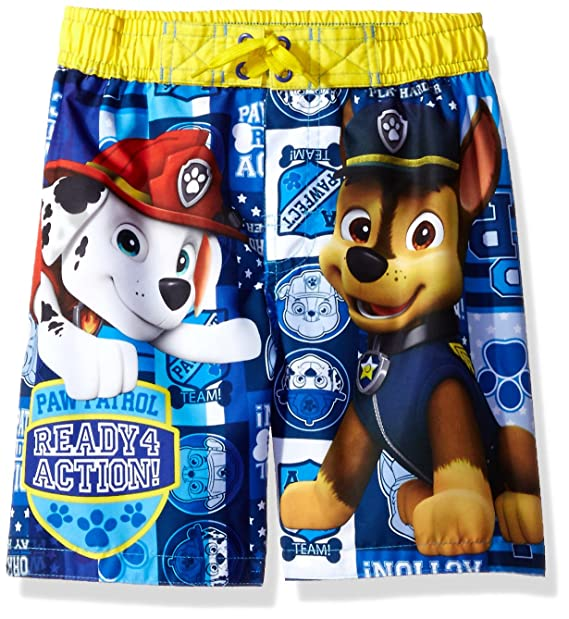 19aa5e92a5 Amazon.com: Nickelodeon Paw Patrol Boys Swim Trunk, Yellow, 7: Clothing